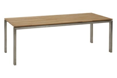 4 Seasons Goa tuintafel - Teak - RVS - 220 x 95 cm.