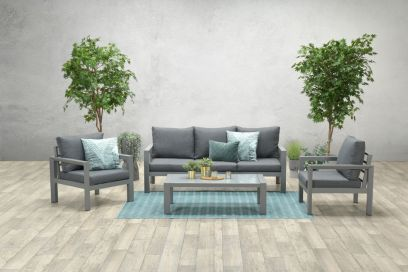 Zion loungeset 4-delig - Artic grey