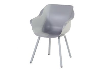 Hartman Sophie Element dining armstoel - Misty Grey - Alu poot