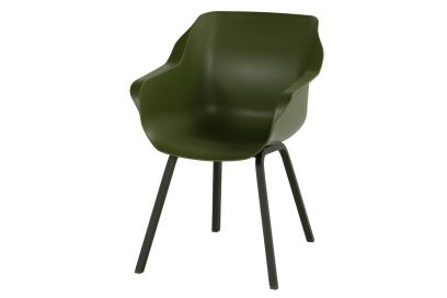 Hartman Sophie Element dining armstoel - Moss Green - Carbon Black poot