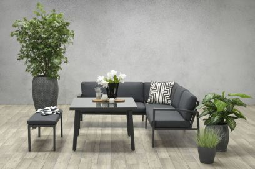 Wellington lounge dining set - Carbon black