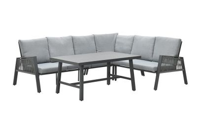 Andrea lounge dining set - Carbon black - Rechts