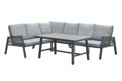 Andrea lounge dining set - Carbon black - Links