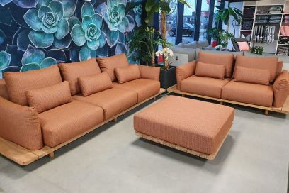 Suns Bora all-weather loungeset - Terra coral