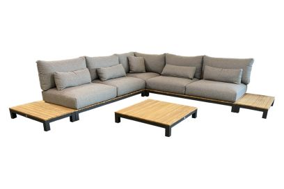 Suns Evora loungeset - 6-delig - Matt royal grey