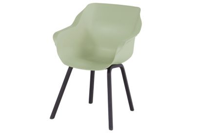 Hartman Sophie Element dining armstoel - French Green - Alu poot