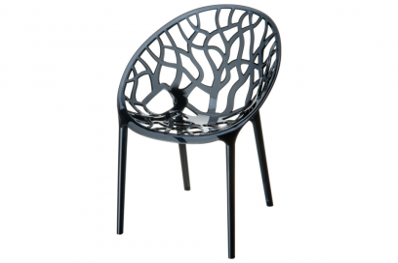 Siesta Crystal stapelbare stoel - Black transparant