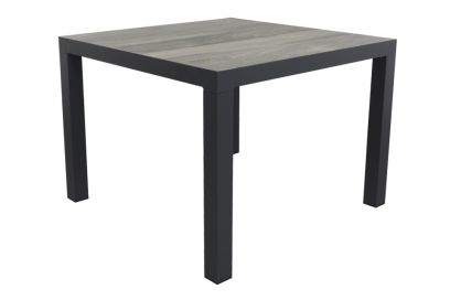 Kings tuintafel 100x100 cm. - Antraciet - Houtlook
