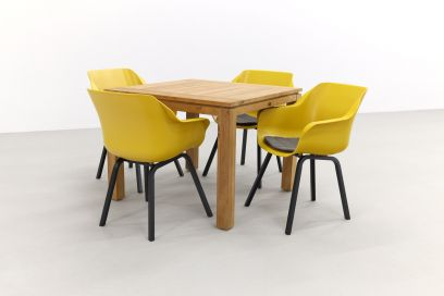 Hartman Sophie tuinstoel curry yellow/Rome brown 100 cm. - 5-delig