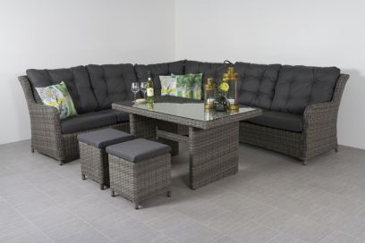Lounge dining set Richmond - Ash grey