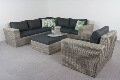 Loungeset Zanzibar + loungestoel - Artic grey