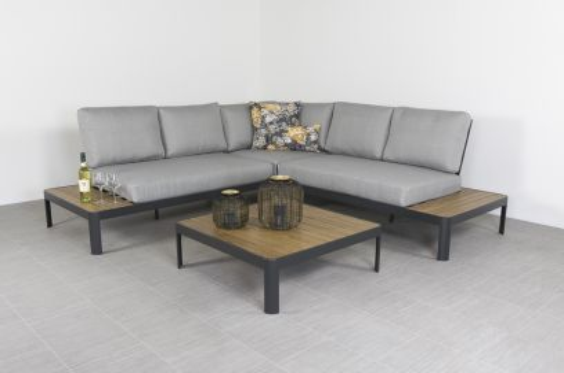 Bonita platform loungeset - Antraciet