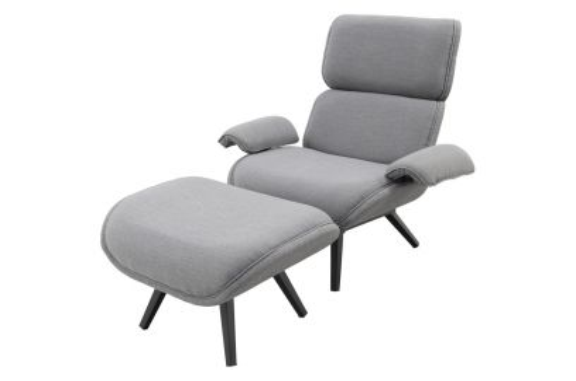 Bussines Sunbrella loungestoel incl. voetenbank
