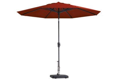 Madison Paros stokparasol - 300 cm. - Brick Red - Op=Op