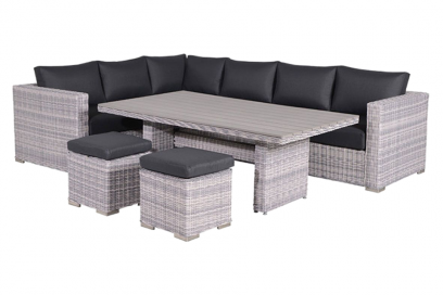 Tennessee lounge dining set - Cloudy grey - links