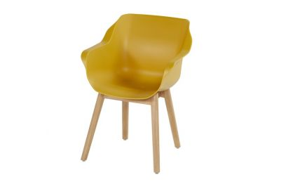 Hartman Sophie Studio dining armstoel - Curry Yellow - Teak poot